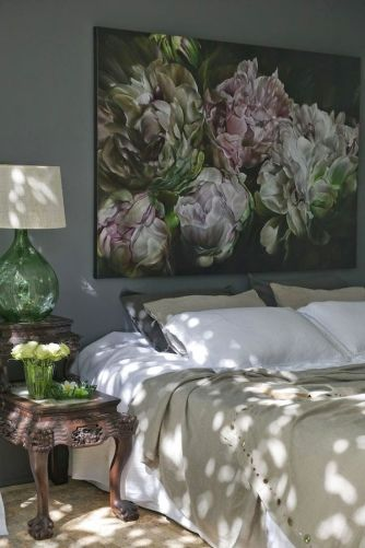 A pretty wall painting that  makes your bedroom more beautiful and cool.