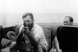 If Ernest Hemingway said that you MUST write about these five topics, you'd take him seriously. (image via wikimedia)