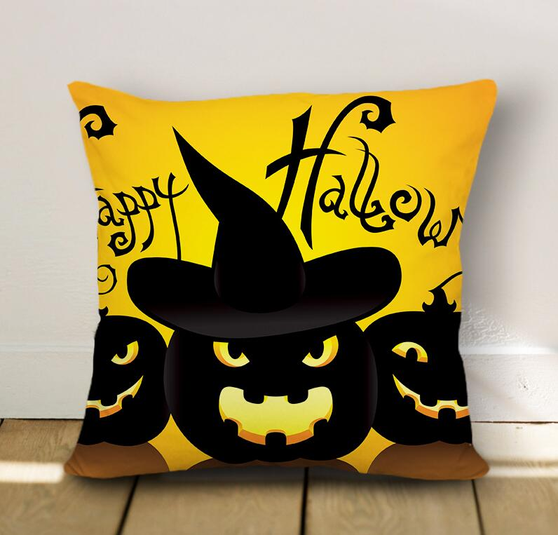 Halloween Designed Pumpkin Pillow Case