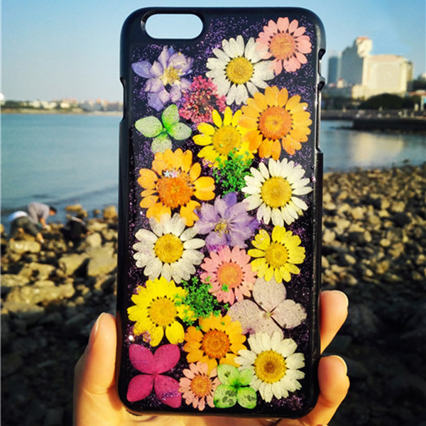 Pressed flowers iPhone6 case