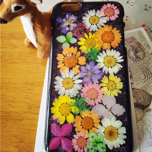 Pressed flowers iPhone6 case