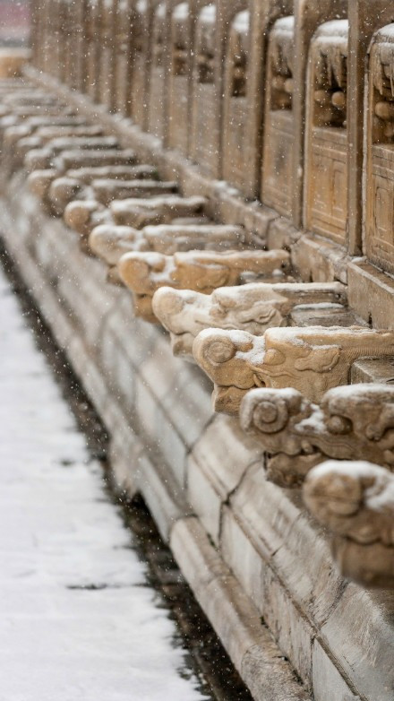 Beijing's Forbidden City   Snow-Covered Landscape