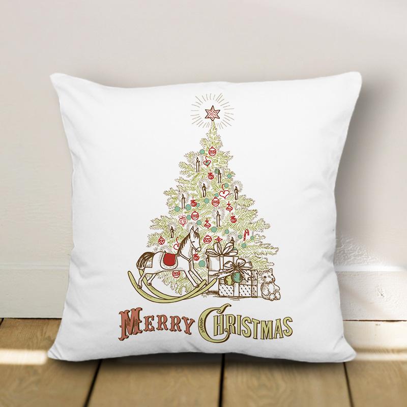 博153 Christmas Tree Merry Christma Pillow Case