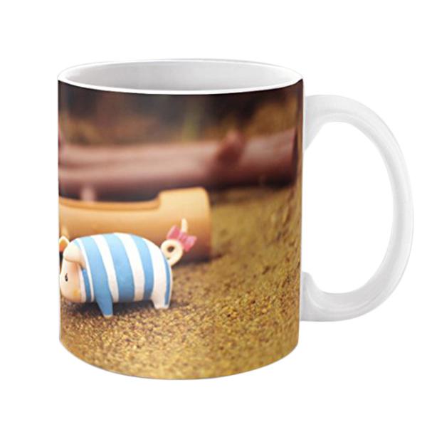 博177 So Cute Small Pig Picture Coffee,Tea Mug