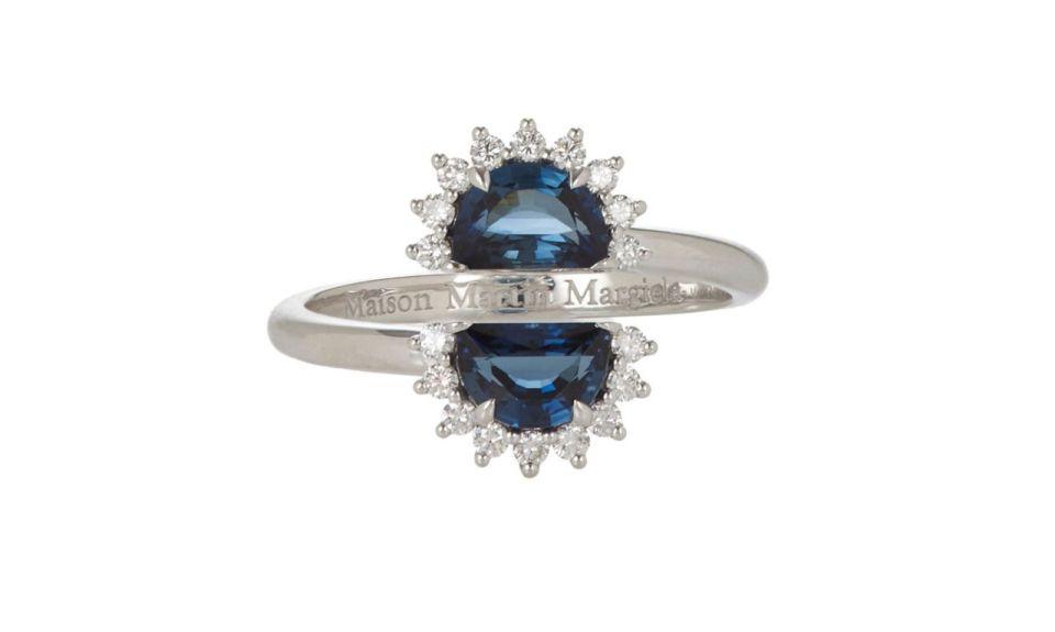 2 Maison Margiela Fine Pompadour Split Ring