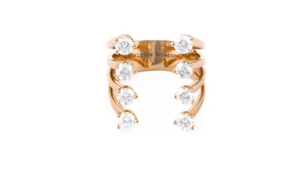 4 Delfina Delettrez Diamond Dots Ring