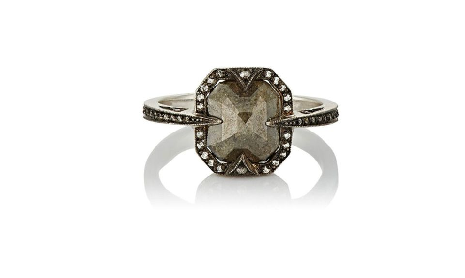 5 Cathy Waterman Mixed-Diamond Ring