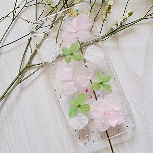 White Daisy And Purple Larkspur Real Dried Pressed Flowers Phone Case