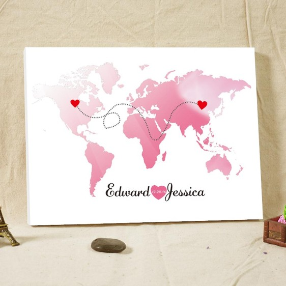 Pinterestviki pinterestviki 10 destination wedding guest book state map guest book canvas wedding guest book alternative long distance relationship gift ready to hang on wall gumiabroncs Image collections